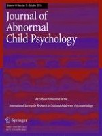 Journal of Abnormal Child Psychology 7/2016