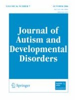 Journal of Autism and Developmental Disorders 7/2006