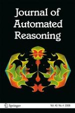 Journal of Automated Reasoning 4/2008