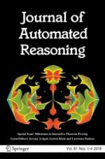 Journal of Automated Reasoning 1-4/2018