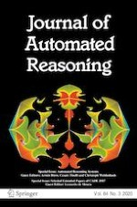Journal of Automated Reasoning 3/2020