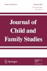 Journal of Child and Family Studies 6/2007