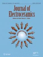 Journal of Electroceramics 1-2/2013