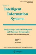 Journal of Intelligent Information Systems 3/2009