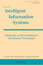 Journal of Intelligent Information Systems 1/2020
