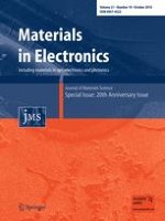 Journal of Materials Science: Materials in Electronics 10/2010