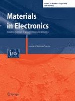 Journal of Materials Science: Materials in Electronics 8/2016