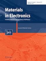 Journal of Materials Science: Materials in Electronics 4/2019