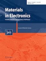 Journal of Materials Science: Materials in Electronics 13/2020