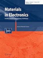 Journal of Materials Science: Materials in Electronics 4/2020