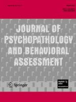 Journal of Psychopathology and Behavioral Assessment 1/2007
