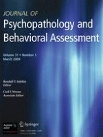 Journal of Psychopathology and Behavioral Assessment 1/2009