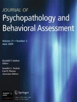 Journal of Psychopathology and Behavioral Assessment 2/2009