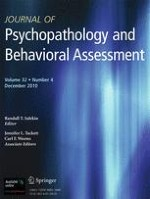 Journal of Psychopathology and Behavioral Assessment 4/2010