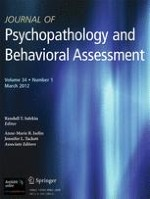 Journal of Psychopathology and Behavioral Assessment 1/2012