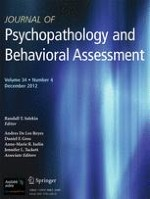 Journal of Psychopathology and Behavioral Assessment 4/2012