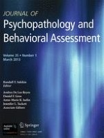 Journal of Psychopathology and Behavioral Assessment 1/2013