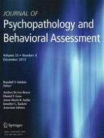 Journal of Psychopathology and Behavioral Assessment 4/2013