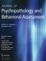 Journal of Psychopathology and Behavioral Assessment 4/2015