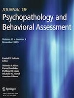 Journal of Psychopathology and Behavioral Assessment 4/2019