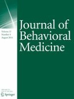 Journal of Behavioral Medicine 4/2014