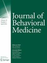 Journal of Behavioral Medicine 2/2016