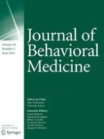 Journal of Behavioral Medicine 3/2016