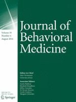 Journal of Behavioral Medicine 4/2016
