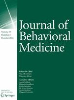 Journal of Behavioral Medicine 5/2016