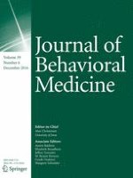 Journal of Behavioral Medicine 6/2016