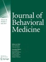 Journal of Behavioral Medicine 3/2017
