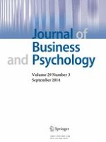 Journal of Business and Psychology 3/2014