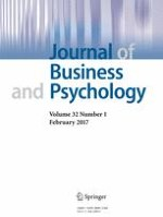 Journal of Business and Psychology 1/2017