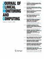 Journal of Clinical Monitoring and Computing 4/2008