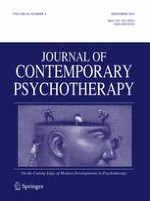 Journal of Contemporary Psychotherapy 4/2016