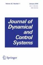 Journal of Dynamical and Control Systems 1/2016