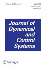 Journal of Dynamical and Control Systems 3/2016