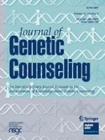 Journal of Genetic Counseling 3/2007