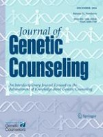 Journal of Genetic Counseling 6/2014