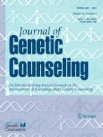 Journal of Genetic Counseling 1/2015