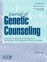 Journal of Genetic Counseling 6/2016