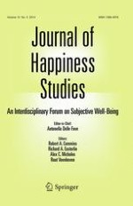 Journal of Happiness Studies 5/2014