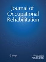 Journal of Occupational Rehabilitation 3/2014