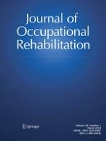Journal of Occupational Rehabilitation 1/2018