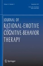 Journal of Rational-Emotive & Cognitive-Behavior Therapy 3/2013