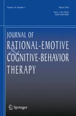 Journal of Rational-Emotive & Cognitive-Behavior Therapy 1/2018