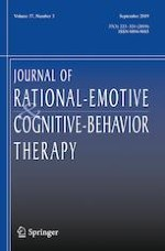 Journal of Rational-Emotive & Cognitive-Behavior Therapy 3/2019
