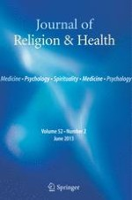 Journal of Religion and Health 2/2013