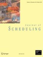 Journal of Scheduling 4-5/2007