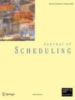 Journal of Scheduling 5/2009